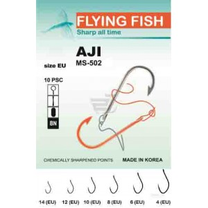 Крючок Flying Fish Aji  (10 шт/уп) №10