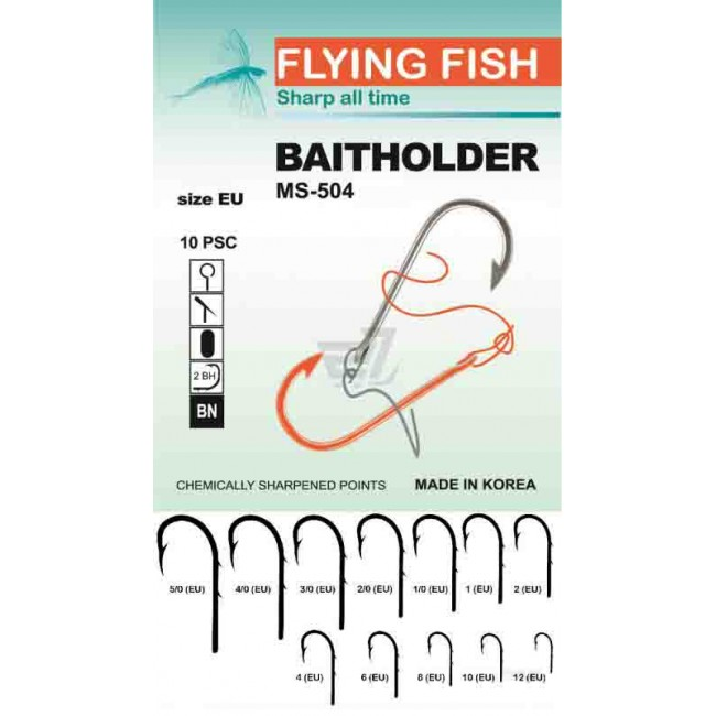 Крючок Flying Fish Baitholder (Ring, BN) 10 шт. №10