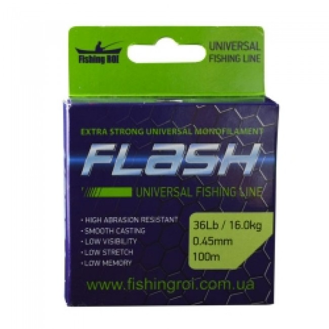 Леска Fishing ROI FLASH Universal Line 0.15mm 100m 2.2kg