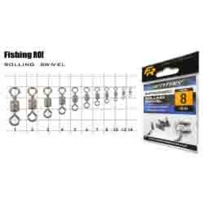 Вертлюжок Fishing ROI Impressed rolling swivel №1
