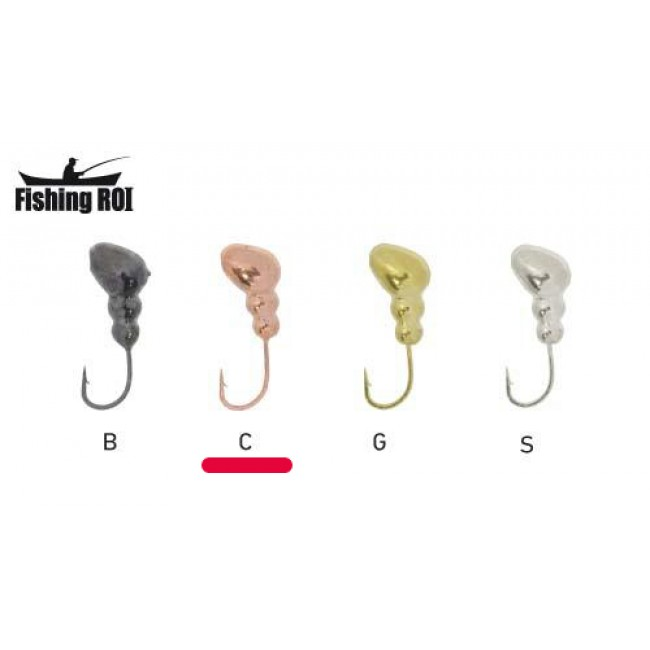 Мормышка вольфрамовая Fishing ROI Муравей с отвестием 5mm copper (10 шт)
